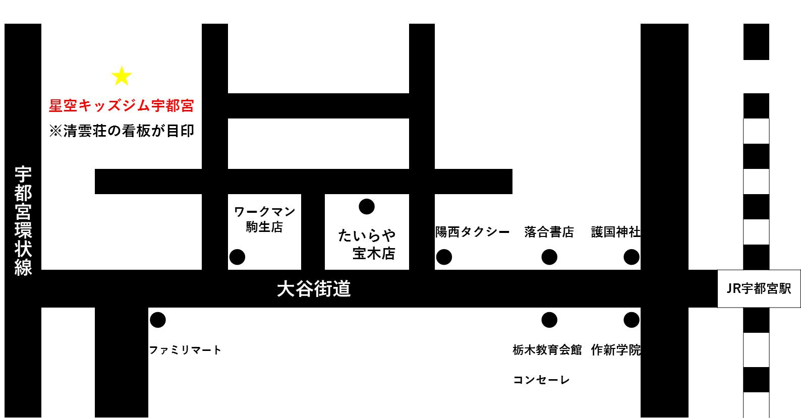星空キッズジム地図